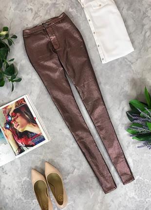 Стильные джинсы с напылением  pn1917112 denim co