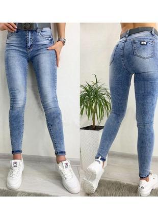 Стильные женские голубые джинсы рта pealtia турция р 25,26,27