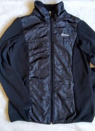 Спортивный флисовый реглан кофта свитер куртка