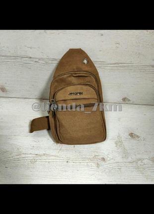 Мужская сумка через плечо 3321 коричневая (хаки)