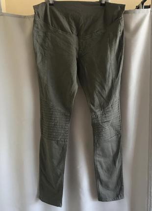 Брюки джинсы хаки для беременных оригинал