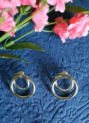 Серьги сережки серебро зара  в стиле zara винтаж
