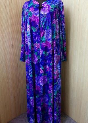 Длинное платье цветочный принт с молнией для кормящих