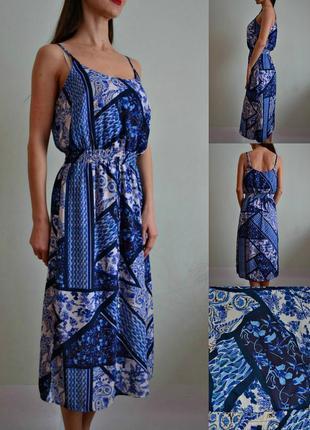 Шифоновое платье миди с подкладкой