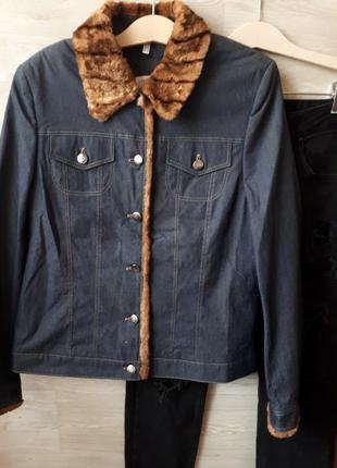 0ce8b1fc500 Джинсовые куртки с мехом женские 2019 - купить недорого вещи в ...