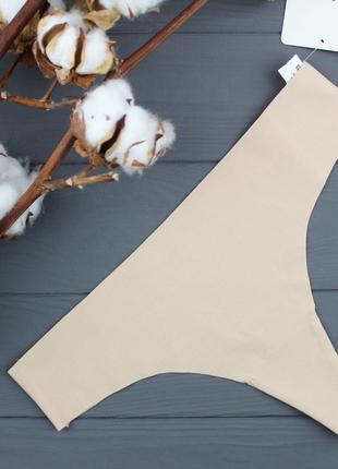 Бесшовные трусики-стринги из хлопка laser cut jasmine l,xl