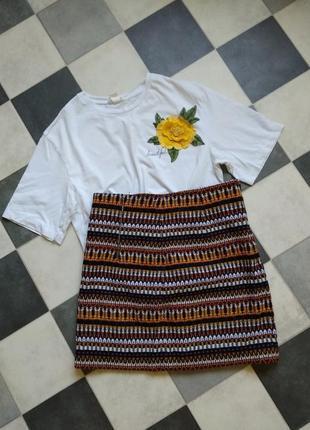 Яркая юбка mango