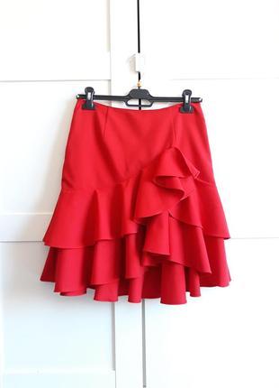 Ralph lauren,красная юбка в воланами
