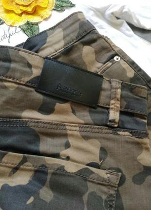 Камуфляжные джинсы брюки высокая посадка stradivarius6 фото