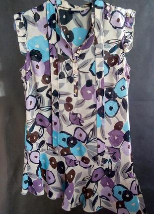 Расспродажа!! шифоновое платье с рюшами воланами next цветочный принт