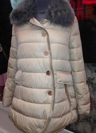 Куртка зимняя воротник мех