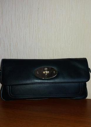 Оригинальная сумка- клатч  mulberry, натуральная кожа