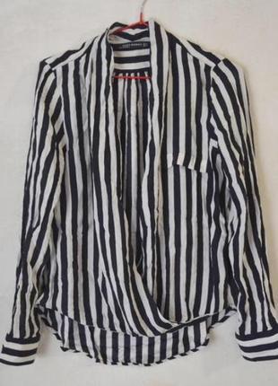 Рубашка/блуза в полоску на запах zara 🔥