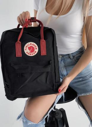 Рюкзак kanken 16 л black ox red