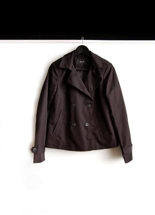 Укороченное пальто оверсайз vila черного цвета