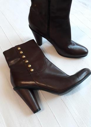 Ecco оригинал кожаные#шкіряні ботинки#сапоги#полусапоги#черевики, 100% кожа.