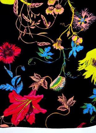 H&m. красивый  вискозный топ в цветочный принт. с-ка. 63 фото