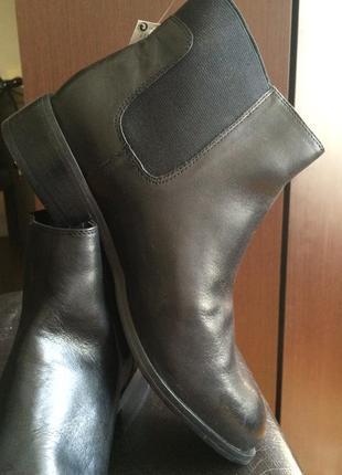 Кожаные ботиночки челси, 39р.