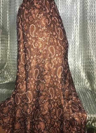 Золотая парча юбка