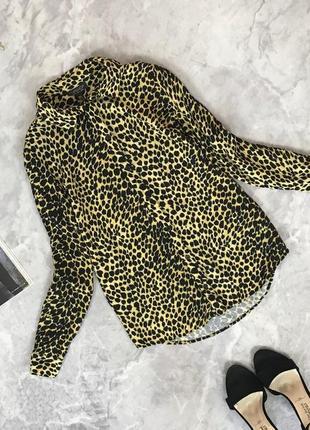 Вискозная блуза с леопардовым принтом  bl1917065 topshop