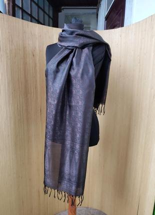 Шелковый палантин / шарф / парэо / хиджаб