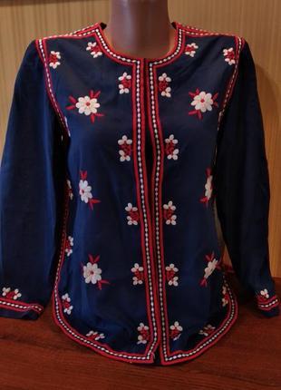 Крутая вышиванка вышитая рубашка блуза