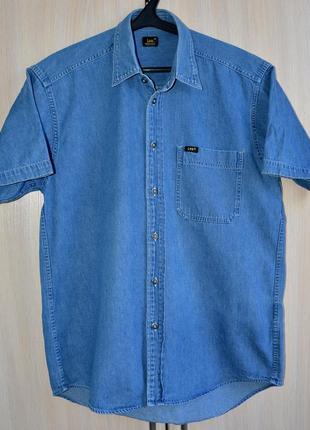 Рубашка джинсовая lee® original m б.у. y1p3-1