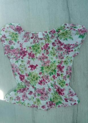 Стильная фирменная хлопковая блузка