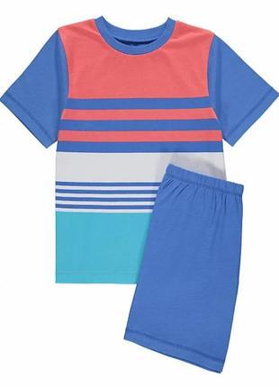 Полосатая летняя пижамка на мальчика 2-3 года george