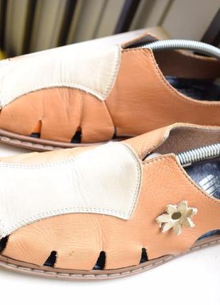 Кожаные туфли балетки сандали лодочки мокасины риекер