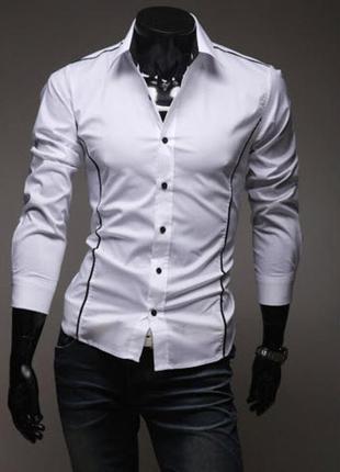 Стильная рубашка мужская приталеная