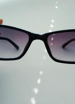 Очки / оправа черная классика узкие