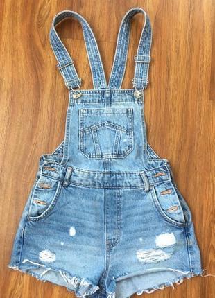 Комбинезон, джинсовый комбинезон, комбінезон , шорти , шорты , h&м