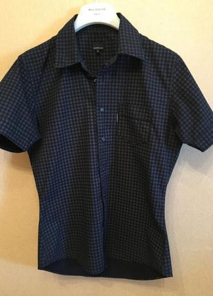 Рубашка хлопок с коротким рукавом calvin klein jeans оригинал