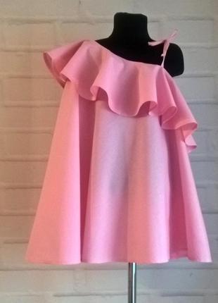Платье для девочки. платье детское нежно-розового цвета. 100% рр 110-140