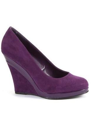 Фиолетовые туфли на танкетке new look