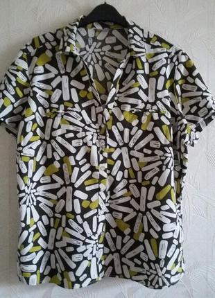 Рубашка, блуза, 50-52-54, лен, вискоза, m&s