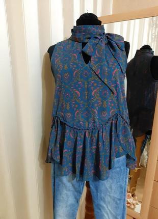 Летняя блузка свободного кроя next 12-14 размер