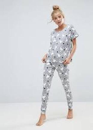 Пижама с леггинсами и футболкой asos р-р. 8 (s)