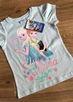 Супер мультяшная футболка от дисней сёстры эльза и анна