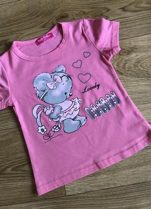 Прикольная качественная футболка с милым мышонком