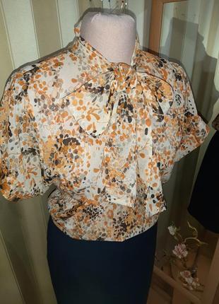 Качественная итальянская летняя блузка s размер