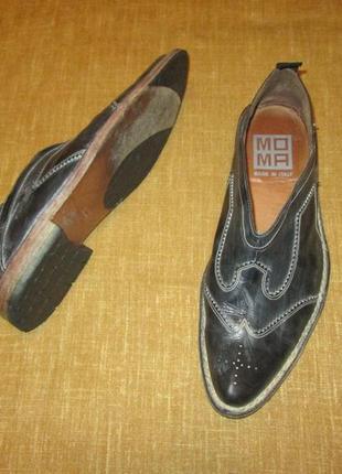 Moma италия кожаные туфли мокасины лоферы hand made