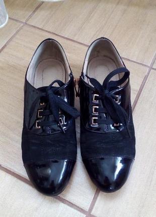 Туфли elmira  с замшевыми вставками