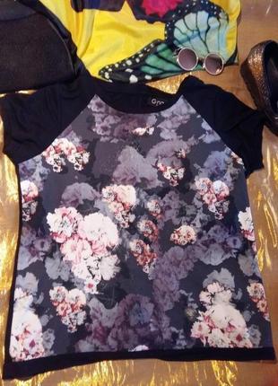 Стильная черная блуза сакура gina44 нюанс