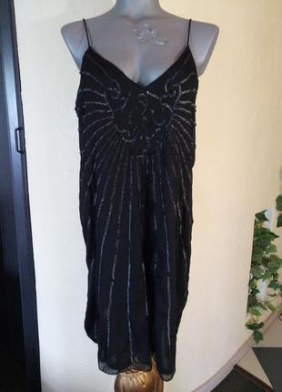 Короткое платье в пайетках