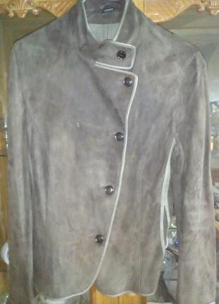 Пиджак лайковая кожа