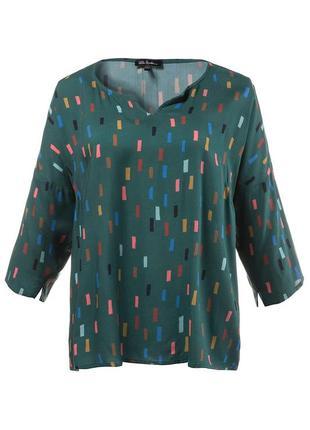 Продам шелковую летнюю продуваемую рубашку блузку  ulla popken на наш 54 размер