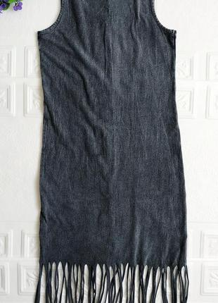 Летнее платье майка, с разрезами внизу4 фото