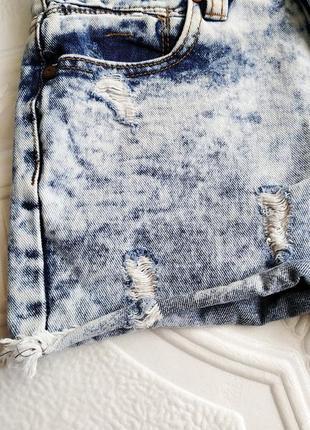 Высокие выбеленные джинсовые шорты denim co2 фото